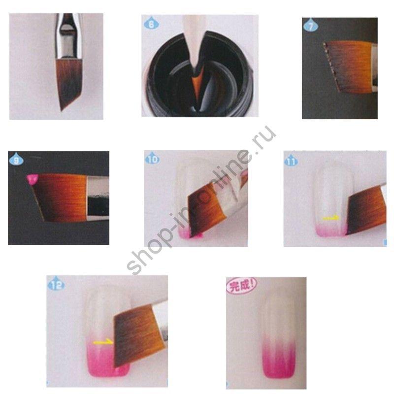 Ручка для дизайна ногтей Косой срез Случайный набор 3 шт 3pcs